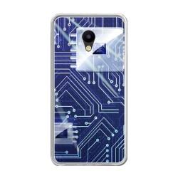 Funda Gel Tpu para Meizu M5 Note Diseño Circuito Dibujos
