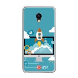 Funda Gel Tpu para Meizu M5 Note Diseño Cohete Dibujos