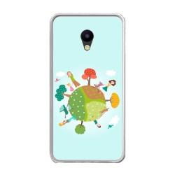 Funda Gel Tpu para Meizu M5 Note Diseño Familia Dibujos