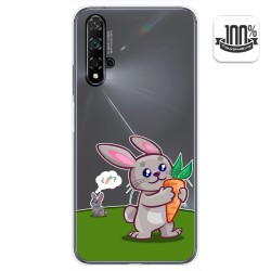 Funda Gel Transparente para Huawei Nova 5T / Honor 20 diseño Conejo Dibujos