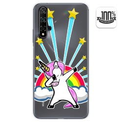 Funda Gel Transparente para Huawei Nova 5T / Honor 20 diseño Unicornio Dibujos