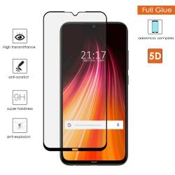 Protector Cristal Templado Completo 5D Full Glue Negro para Xiaomi Redmi Note 8 Vidrio