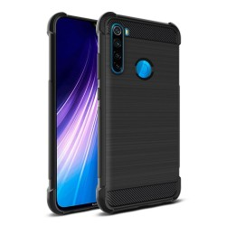 Funda Gel Tpu Anti-Shock Carbon Negra para Xiaomi Redmi Note 8