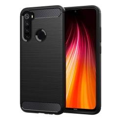Funda Gel Tpu Tipo Carbon Negra para Xiaomi Redmi Note 8