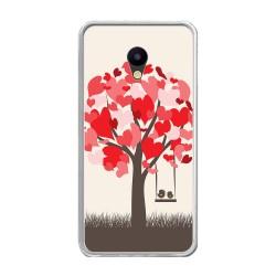 Funda Gel Tpu para Meizu M5 Note Diseño Pajaritos Dibujos
