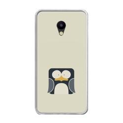 Funda Gel Tpu para Meizu M5 Note Diseño Pingüino Dibujos