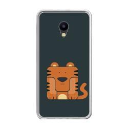 Funda Gel Tpu para Meizu M5 Note Diseño Tigre Dibujos