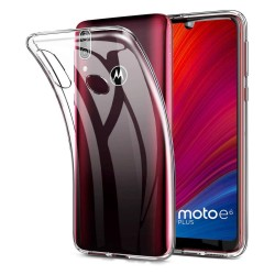 Funda Gel Tpu Fina Ultra-Thin 0,5mm Transparente para Motorola Moto E6 Plus