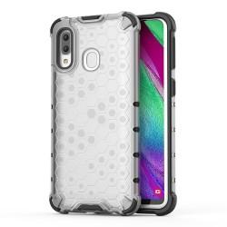 Funda Tipo Honeycomb Armor (Pc+Tpu) Transparente para Samsung Galaxy A40