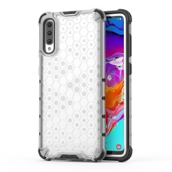 Funda Tipo Honeycomb Armor (Pc+Tpu) Transparente para Samsung Galaxy A70