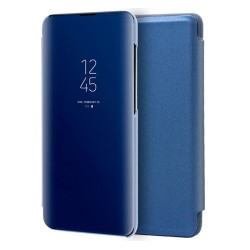 Funda Flip Cover Clear View para Xiaomi Redmi Note 8 color Azul
