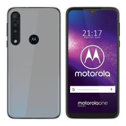 Funda Gel Tpu para Motorola One Macro Color Transparente
