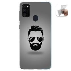 Funda Gel Tpu para Samsung Galaxy M30s / M21 diseño Barba Dibujos