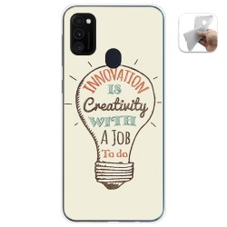 Funda Gel Tpu para Samsung Galaxy M30s / M21 diseño Creativity Dibujos