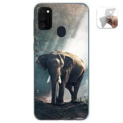 Funda Gel Tpu para Samsung Galaxy M30s / M21 diseño Elefante Dibujos