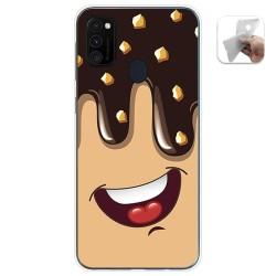 Funda Gel Tpu para Samsung Galaxy M30s / M21 diseño Helado Chocolate Dibujos