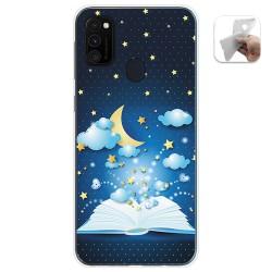 Funda Gel Tpu para Samsung Galaxy M30s / M21 diseño Libro Cuentos Dibujos