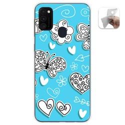 Funda Gel Tpu para Samsung Galaxy M30s / M21 diseño Mariposas Dibujos