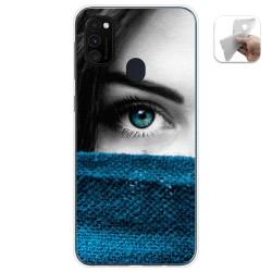 Funda Gel Tpu para Samsung Galaxy M30s / M21 diseño Ojo Dibujos