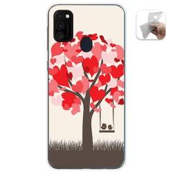 Funda Gel Tpu para Samsung Galaxy M30s / M21 diseño Pajaritos Dibujos