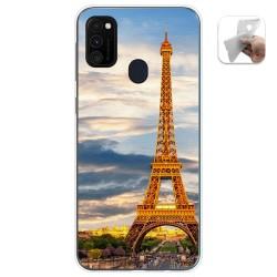 Funda Gel Tpu para Samsung Galaxy M30s / M21 diseño Paris Dibujos