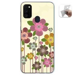 Funda Gel Tpu para Samsung Galaxy M30s / M21 diseño Primavera En Flor Dibujos