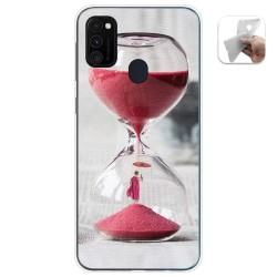 Funda Gel Tpu para Samsung Galaxy M30s / M21 diseño Reloj Dibujos