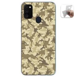 Funda Gel Tpu para Samsung Galaxy M30s / M21 diseño Sand Camuflaje Dibujos