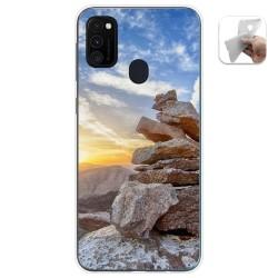 Funda Gel Tpu para Samsung Galaxy M30s / M21 diseño Sunset Dibujos