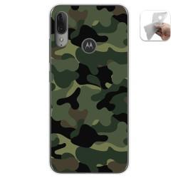 Funda Gel Tpu para Motorola Moto E6 Plus diseño Camuflaje Dibujos