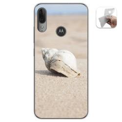 Funda Gel Tpu para Motorola Moto E6 Plus diseño Concha Dibujos