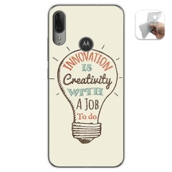 Funda Gel Tpu para Motorola Moto E6 Plus diseño Creativity Dibujos