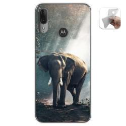 Funda Gel Tpu para Motorola Moto E6 Plus diseño Elefante Dibujos