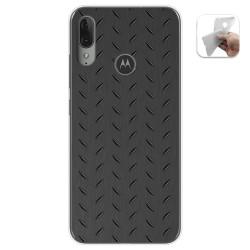 Funda Gel Tpu para Motorola Moto E6 Plus diseño Metal Dibujos