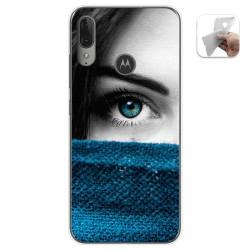 Funda Gel Tpu para Motorola Moto E6 Plus diseño Ojo Dibujos