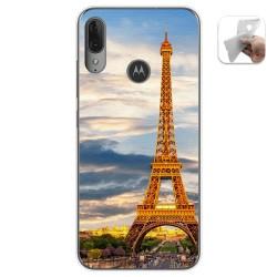 Funda Gel Tpu para Motorola Moto E6 Plus diseño Paris Dibujos