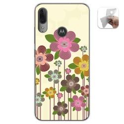 Funda Gel Tpu para Motorola Moto E6 Plus diseño Primavera En Flor Dibujos