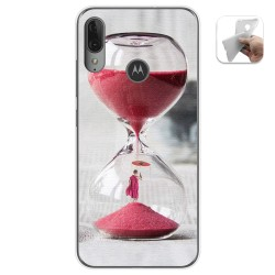 Funda Gel Tpu para Motorola Moto E6 Plus diseño Reloj Dibujos