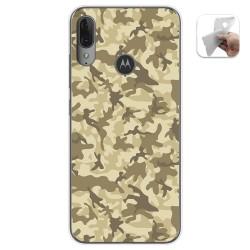 Funda Gel Tpu para Motorola Moto E6 Plus diseño Sand Camuflaje Dibujos