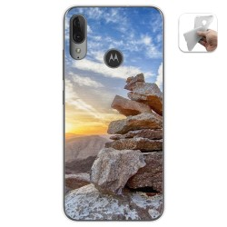 Funda Gel Tpu para Motorola Moto E6 Plus diseño Sunset Dibujos