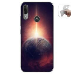 Funda Gel Tpu para Motorola Moto E6 Plus diseño Tierra Dibujos