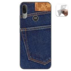Funda Gel Tpu para Motorola Moto E6 Plus diseño Vaquero Dibujos