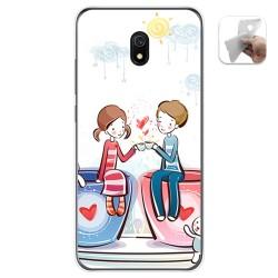 Funda Gel Tpu para Xiaomi Redmi 8A diseño Café Dibujos
