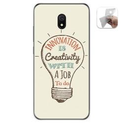 Funda Gel Tpu para Xiaomi Redmi 8A diseño Creativity Dibujos
