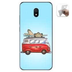 Funda Gel Tpu para Xiaomi Redmi 8A diseño Furgoneta Dibujos