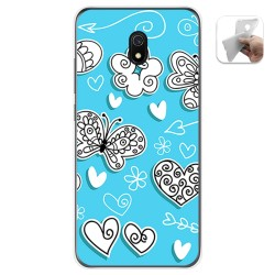 Funda Gel Tpu para Xiaomi Redmi 8A diseño Mariposas Dibujos