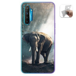 Funda Gel Tpu para Realme X2 diseño Elefante Dibujos