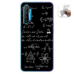 Funda Gel Tpu para Realme X2 diseño Formulas Dibujos