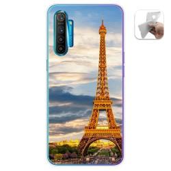 Funda Gel Tpu para Realme X2 diseño Paris Dibujos