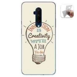 Funda Gel Tpu para Oneplus 7T Pro diseño Creativity Dibujos
